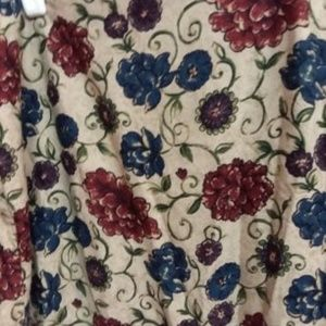 Long  tan and flower print skirt - Talbots Size 14